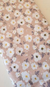 Baumwollstoff - Blumenprint rosa