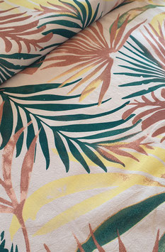 Baumwollstoff - Palmenblätter
