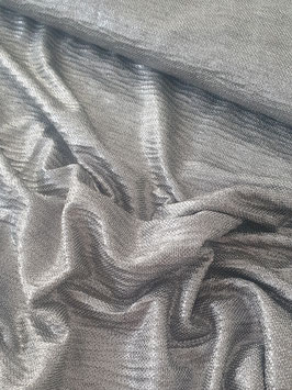 Strickjersey - Foliendruck Silber