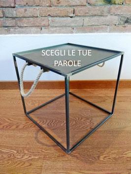 Tavolino salotto stile industriale WORDS