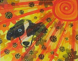 Naive Kunst / Bilder / Acryl figurativ:   Am Tag als für Chili die Sonne kam
