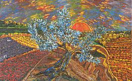 """Neo - Primitive Kunst / Acryl gegenständlich: """"  Der Olivenbaum """""""