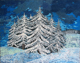 """Neo - Primitive Kunst / Acryl gegenständlich: """"  Wolfsland """""""