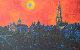 "Neo - Primitive Kunst / Acryl gegenständlich: ""  Sometimes I feel the Blues in my town  """