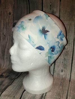 Stirnband Erwachsene und Kinder ab ca. Schulalter, Blaue Blüten, Gr. 1 (Kopfumfang 53-56cm)