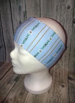 Stirnband Erwachsene, Edelweiss blau, Gr. 1 (Kopfumfang 54-56cm)