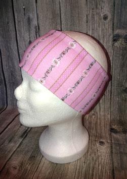Stirnband Erwachsene und Kinder ab ca. Schulalter, Edelweiss rosa, Gr. 1 (Kopfumfang 53-56cm)