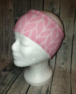 Stirnband Erwachsene und Kinder ab ca. Schulalter, Strickmuster rosa, Gr. 1 (Kopfumfang 53-56cm)
