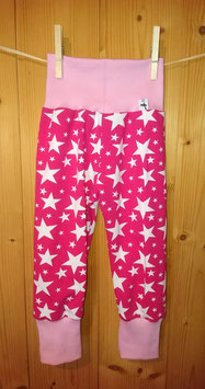 Kuschelhösli Sterne auf pink Gr. 2