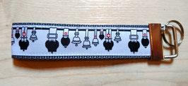 Schlüsselanhänger Glockenstolz auf grau