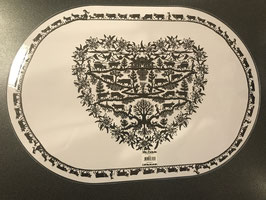 Tischset mit Scherenschnitt zweiseitig