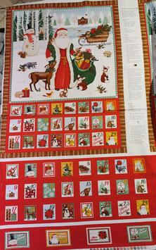Baumwollstoff Adentskalender