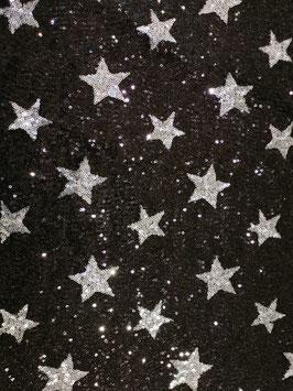 Pailletten-Stoff Sterne