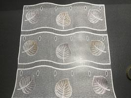 Quervorhang Blätter beige-braun