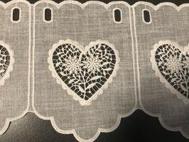 Wunderschöner Kurzvorhang mit Herz und Edelweiss