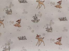 Baumwollstoff Bambi und Klopfer