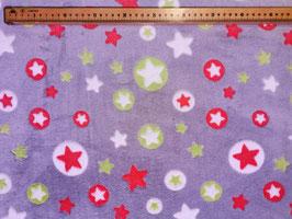 Kuschel-Fleece Sterne grau