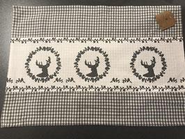 Stoff Tischset mit  Hirsch in 2 Farben