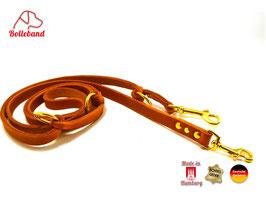 Lederleine Standard 15 mm breit, cognac