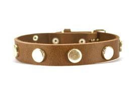 Bolleband Lederhalsband Button 2,0 dunkelbraun