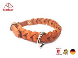 Lederhalsband geflochten Gringo 23 mm breit