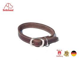 Lederhalsband Classic 2,0 braun creme Bolleband