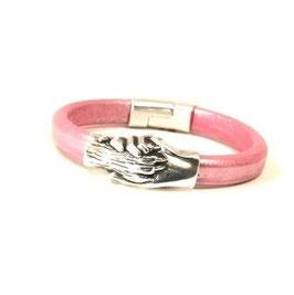 """Armreif """"Hand und Pfote"""" metallic pink"""