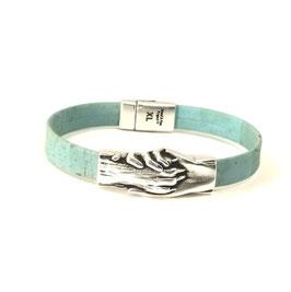 """Armband """"Hand und Pfote"""" Blue-Kork,"""