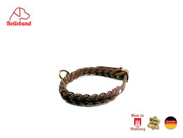 Gringo classic 18 mm breit braun/creme, Flechthalsband