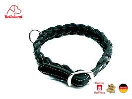 Gringo classic 30 mm breit schwarz/creme, Flechthalsband