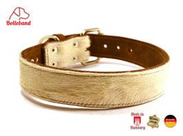 Hundehalsband Leder & Kuhfell 4,0 Bolleband