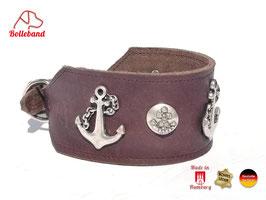 Windhundhalsband Anker 6,0 braun