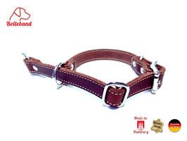 Zugstopp Lederhalsband 20 braun creme Bolleband