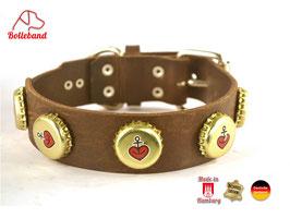 Hundehalsband Hamburger Perle Leder