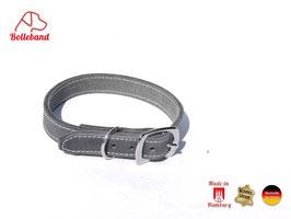 Bolleband Lederhalsband Classic 2,0 grau creme