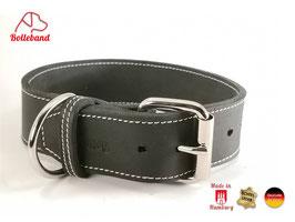 Lederhalsband Classic 4,0 schwarz creme Bolleband