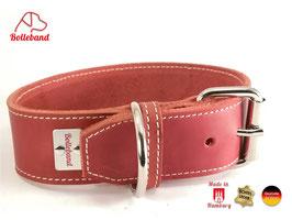 Bolleband Lederhalsband Classic 4,0 rot-creme