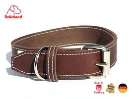 Bolleband Lederhalsband Classic 3,0,  braun creme