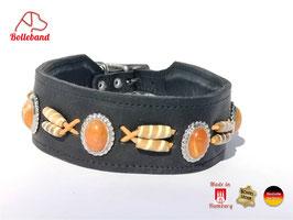 Windhundhalsband Canada 4,5 schwarz orange Bolleband