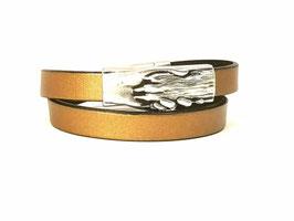 """Armband """"Hand und Pfote"""" bronze, 2-fach"""