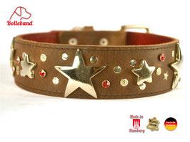 Hundehalsband Big Star 2 braun Leder Bolleband