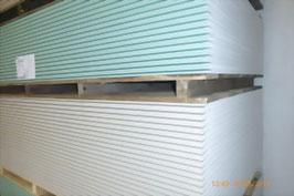 Gipskarton-Bauplatten