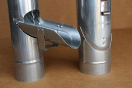 Titanzink Regenrohrklappe mit Sieb    DN 76/87/100