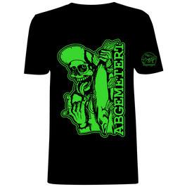 Skull T-Shirt v. Abgemetert Grün ( UV )