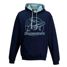 Abgemetert Hoodie Navy Blau