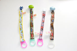 Colorfull pacifier holder for your travel - very practical