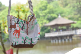 Cute kids travel bag - deer and car design