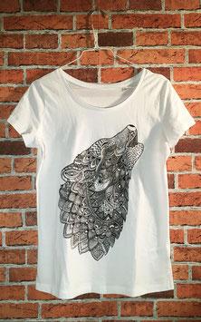 WOLF Shirt Weiss Frauen