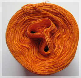 Zweifarbig orange/cognac