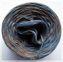 Zweifarbig taubenblau-mocca